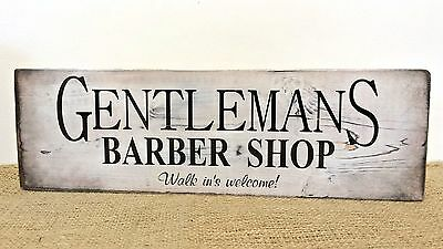 Barber Shop Sign Gents Hairdressing Hair Salon Shop Wooden Rustic Free Standing