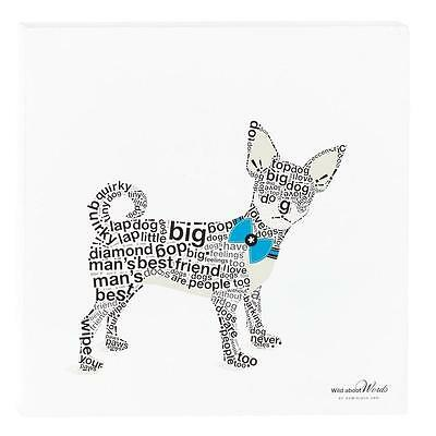 "Chihuahua Dog Wild About Words 12"" Wall Decor"