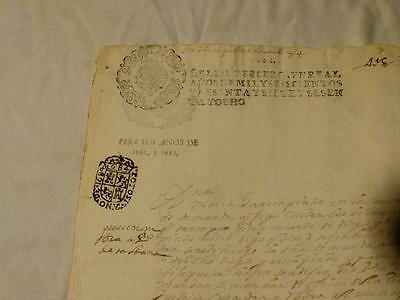 Antique Official 1682-1683 SPANISH Document Manuscript Letter #F27