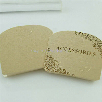 50PCS Beige Paper Necklace Bracelet Jewelry Packaging Display Hanging Card