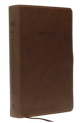 Kjv, Foundation Study Bible, Imitation Leather, Brown, Indexed, Red Letter Editi