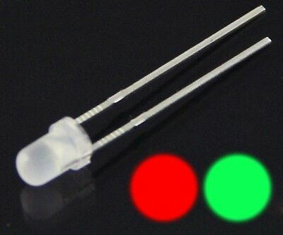 S526 - 20 Piece Duo LEDs 3mm Bi-Color Red/Green Diffusion Bicolor Red/Green
