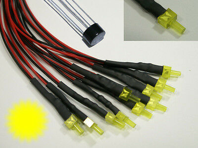 S881 5 Pcs Flashing Tower LEDs 2mm yellow diffusion with cable for 12-19V Flash