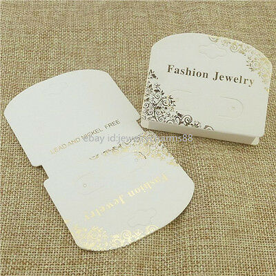 15080 50x Paper Necklace Bracelet Earring Jewelry Display Packaging Hanging Card