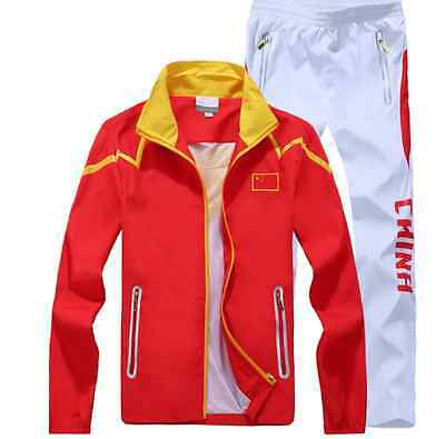 2015 An Ta Chinese team sportswear embroidery flag clothing Jacket caot + Pants