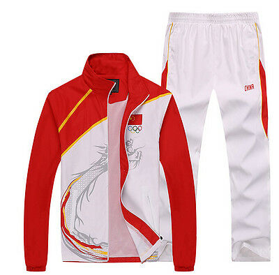 2015 Chinese team sportswear embroidery flag Men's clothing Jacket caots+ Pants