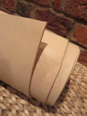 """16""""x 8""""TOOLING  NATURAL VEG TAN LEATHER  3 mm thick  emboss wet mould sheath"""