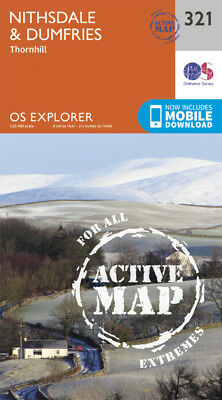 Nithsdale and Dumfries Explorer Map LAMINATED ACTIVE Map 321 Ordnance Survey