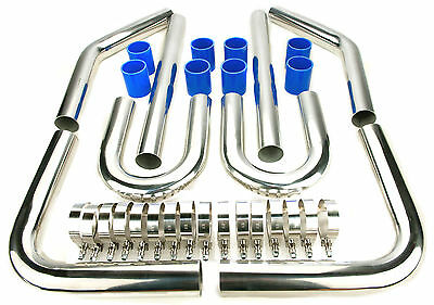"2.5"" Turbo Intercooler Pipe Piping Diy Kit 64Mm Blue"