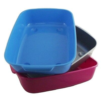 Large Cat Litter Tray Assorted Colours