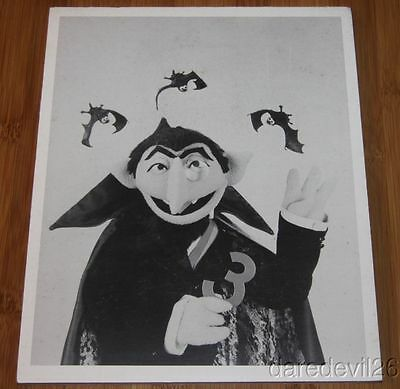 Vintage 1970's Sesame Street The Count Promo Foamboard Display Photo