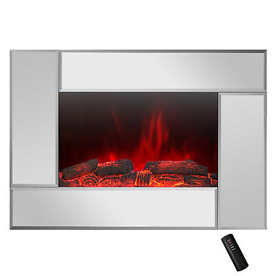 "36"" Tempered Glass 2 Setting 2-in-1 Pebbles Interchangeable Electric Fireplace"