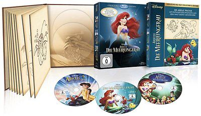 Arielle - Die Meerjungfrau 1-3 - Limited Collector's Edition - 3-BLU-RAY-BOX