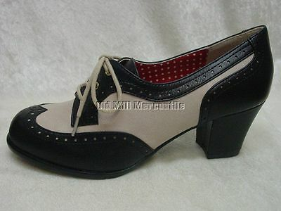 Women's Vintage spectator oxford style 1920's 1930's 1940's shoes size 6 -10 new