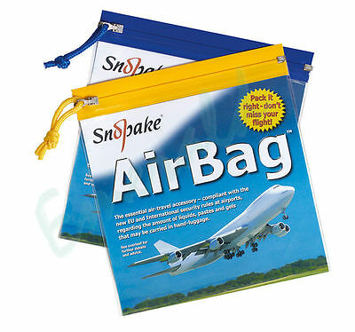 Snopake Security Liquids Air-Bag Transparent Airport Flight Wash Bag 20cm x 20cm