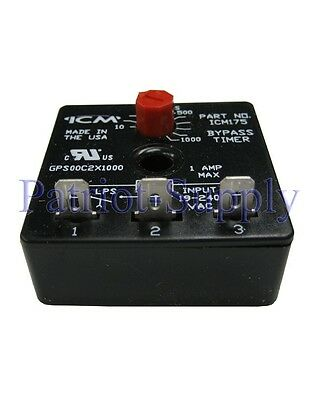 NEW ICM175 Delay On Make Bypass 10-1K Timer Voltage 18-240 VAC Frequency 50/60hz