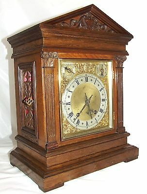 W & H Antique Oak TING TANG Bracket Mantel Clock Chime / Silent : KING & CO HULL