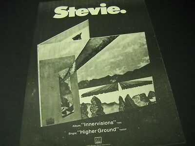 STEVIE WONDER is STEVIE with INNERVISIONS 1973 Promo Poster Ad mint condition