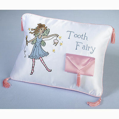 Tooth Fairy Pillow Pink for Girl with Pillow Pouch Tooth Fairy Gift