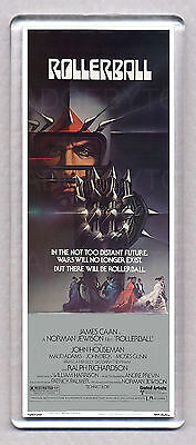ROLLERBALL movie poster LARGE 'WIDE' FRIDGE MAGNET - THE SC-FI CULT CLASSIC!