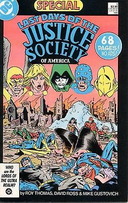 LAST DAYS OF THE JUSTICE SOCIETY SPECIAL #1 VF, DC Comics 1986
