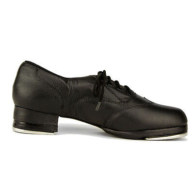New TAP SHOES BLACK LEATHER BUILT UP TA200  SOLE RUBBER PADS SO DANCA