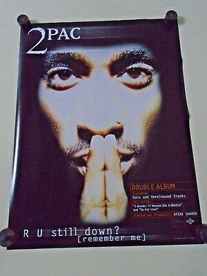 "Tupac Shakur  / Orig. vint. Promo Poster / 1997 / Exc.+ New cond./ 18x24""- 2 Pac"
