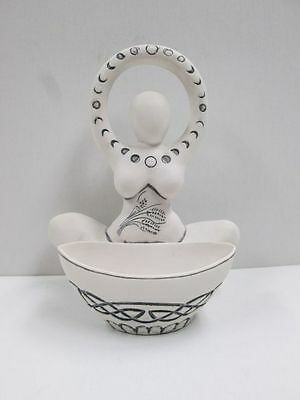Goddess Blessing Offering Bowl Pagan Wiccan Moon Phases Ritual Item #OB