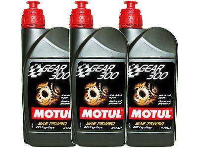 (3L=3.17 Qt) Motul Gear 300 75W90 100% Synthetic Transmission Lubricants Oil
