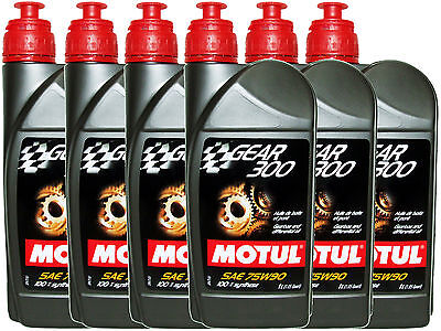 (6L=6.34 Qt) Motul Gear 300 75W90 100% Synthetic Transmission Lubricants Oil