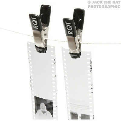 Pro Darkroom Negative Clips For Hanging Film Strips. Weighted, Soft Tips
