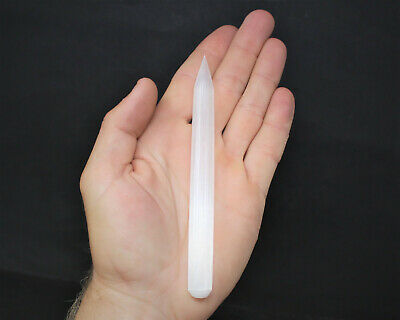 "Powerful White Selenite Healing Wand Approx 5"" - 6"" (Pencil Selenite Crystal)"
