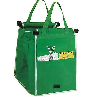 Grab Bag 1 Pack Reusable Ecofriendly Shopping Bag That Clips To Your Cart WLSG