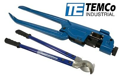 TEMCo DIELESS INDENT WIRE LUG CRIMPER TOOL & ELECTRICAL CABLE CUTTER SET