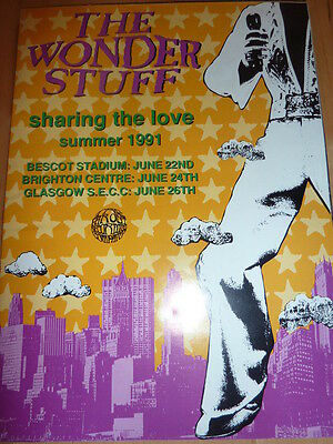 The Wonder Stuff Sharing The Love 1991 Programme