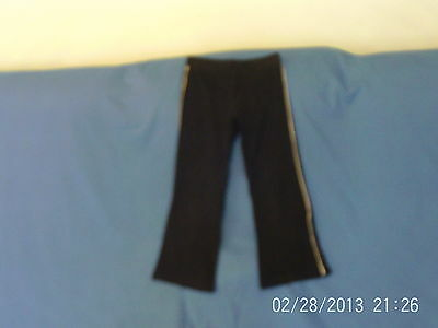 Girls 5 years - Black with White Piping Stretch Trousers - Dance, PE etc - BHS