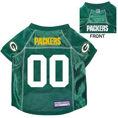 NEW GREEN BAY PACKERS PET DOG PREMIUM NFL JERSEY w NAME TAG ALL SIZES 13f2e3ca8