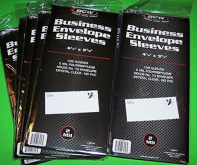 1000 #10 Business Envelope Sleeves-2 Mil-First Day Cover Archival Safe,clear-Bcw