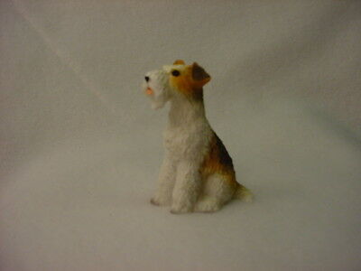 FOX TERRIER Wirehair puppy TiNY FIGURINE Resin Dog MINIATURE Mini STATUE New