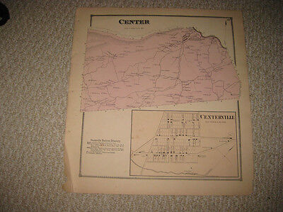 Antique 1868 Center Township Centerville Snyder County Pennsylvania Map Superb N