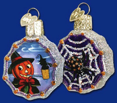 Old World Christmas PUMPKIN WITCH Inside Art Glass Halloween Ornament