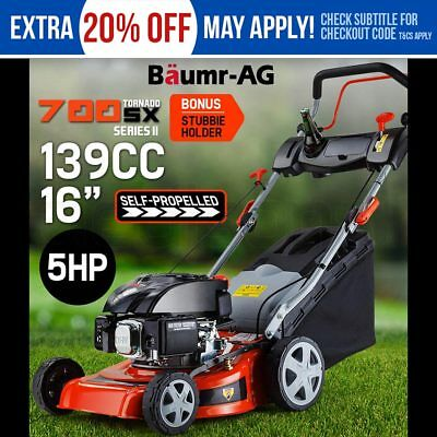 "NEW Lawn Mower Self Propelled Lawnmower 16"" 139cc 4 Stroke Baumr-AG Push Catch"