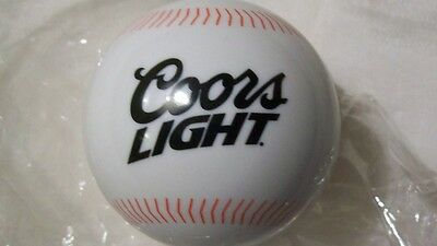 COORS LIGHT TOWEL IN BASEBALL plastic holder beer bar rag