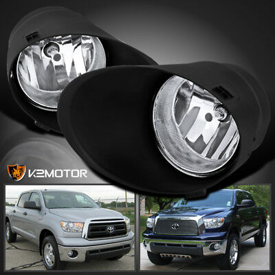 For 07-13 Tundra/08-11 Sequoia Clear Lens Driving Fog Lights Bumper Lamps+Switch