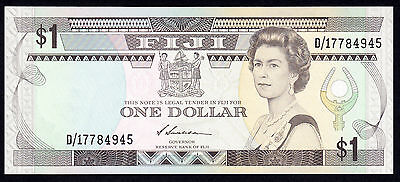 Fiji 1 Dollar ND 1987  P. 86a UNC $1 Note QEII