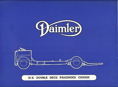 Daimler 30 Ft. Double Deck Passenger Chassis Brochure.
