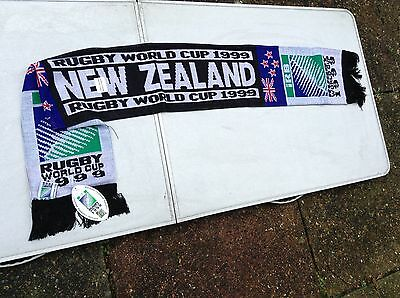 New Zealand Rugby Union World Cup 1999  Official Licensed  IRB  Vintage Scarf