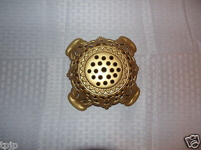 """Vintage 2-7/8"""" Fitter Metal Antique Brass Looking Table Lamp Base"""