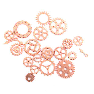 20 Rose Gold Watch Parts STEAMPUNK CYBERPUNNK COGS GEARS DIY JEWELRY CRAFT
