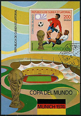 Equatorial Guinea 1974 World Cup Football Cto Used Imperf M/S #A92702